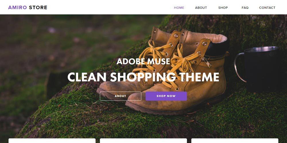 шаблон интернет-магазина для Adobe Muse Amiro