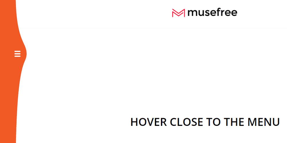 бургер меню сосдвигом и анимацией для Adobe Muse