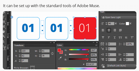 Easy Countdown Timer for Adobe Muse - 1