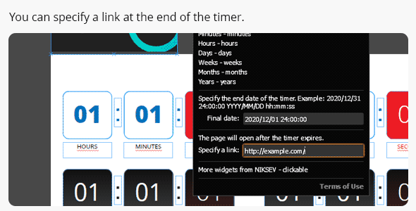 Easy Countdown Timer for Adobe Muse - 3