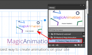 Виджет анимации для Adobe Muse