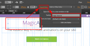 animation widget in Adobe Muse