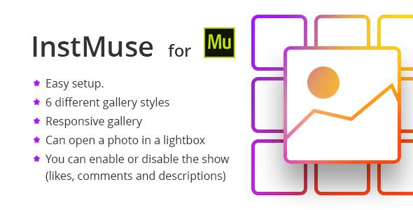 виджет инстаграм галереи для Adobe Muse