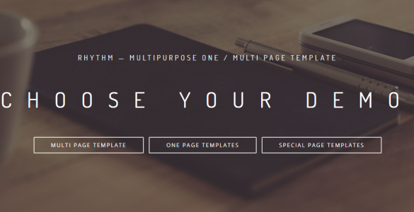 Rhythm - Multipurpose One/Multi Page Muse Template