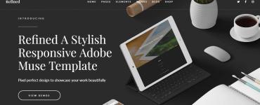 Адаптивный шаблон Adobe Muse